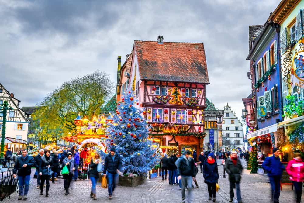 french christmas market colmar france