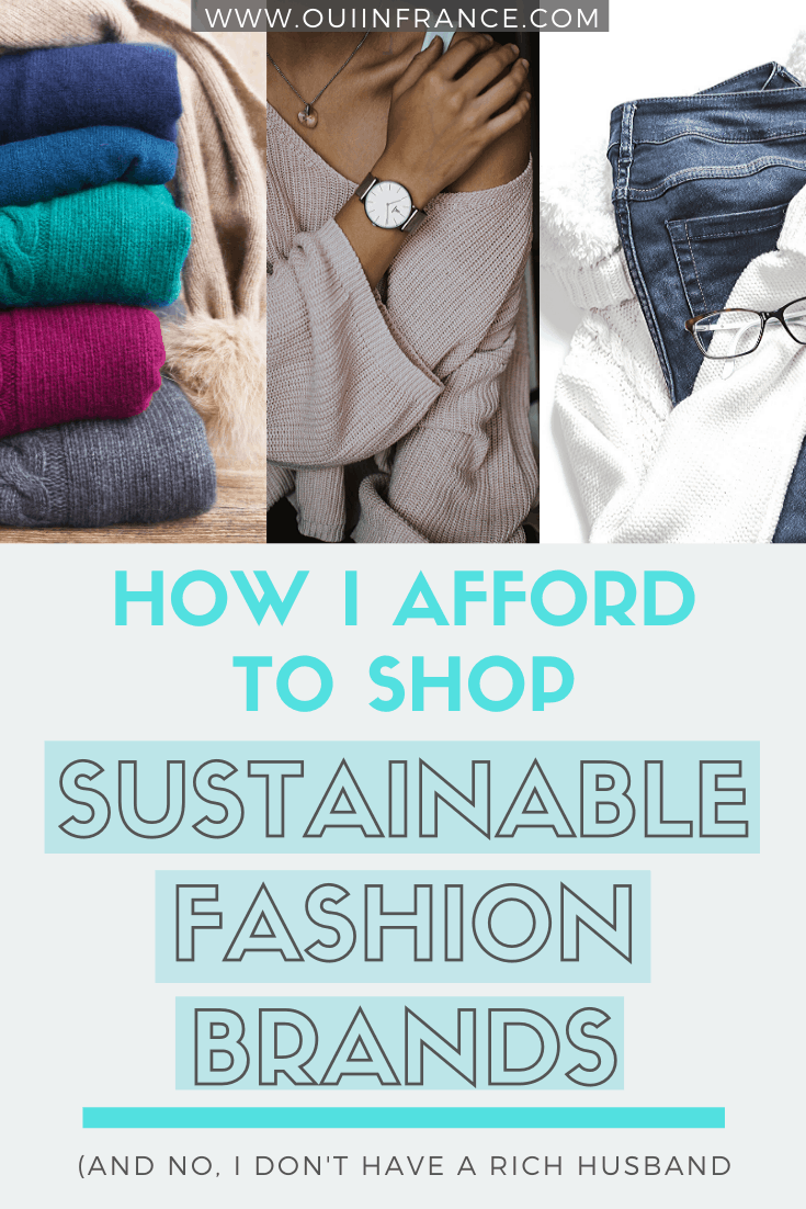 how to afford sustainable clothing brands