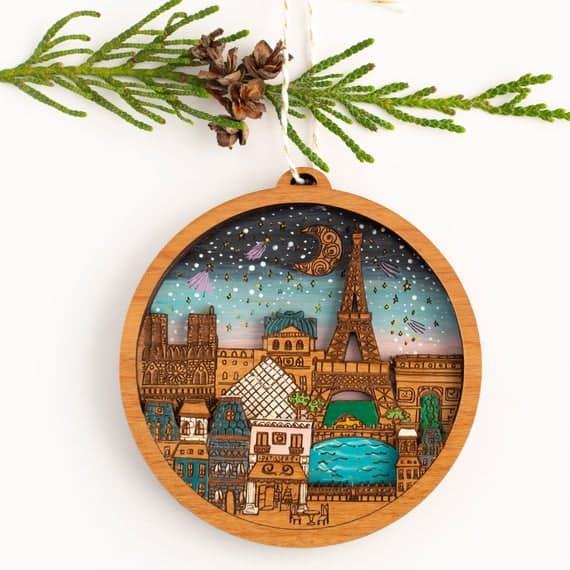 Paris Christmas Ornament