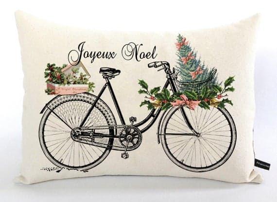 Joyeux Noel bike pillow