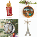 paris christmas ornaments