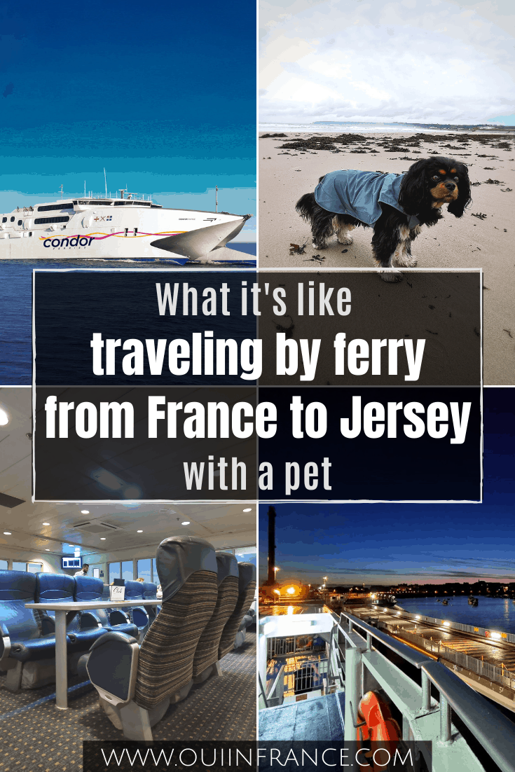 ferry from france to jersey with a dog