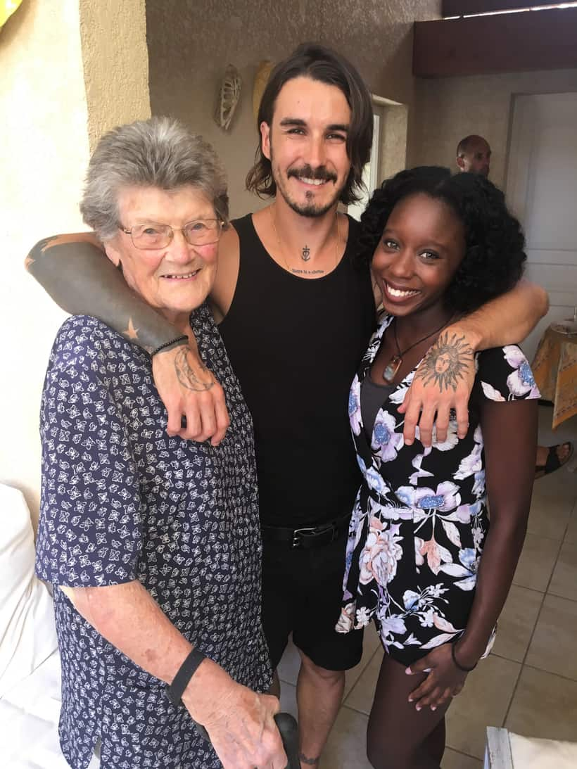 French Grandma meets her first black person