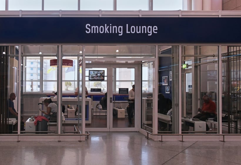 airport smoking area inside