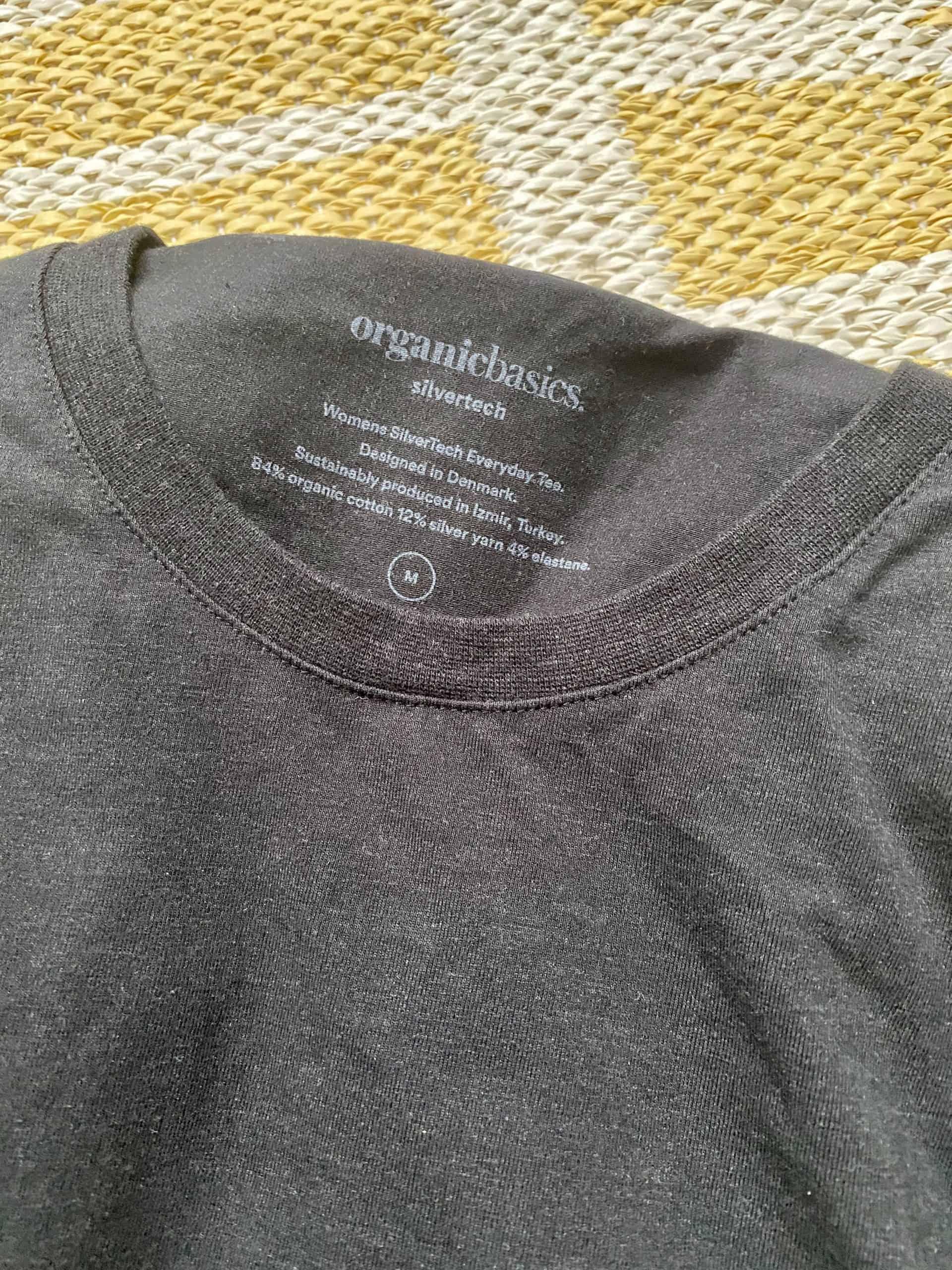 organic basics review silvertech tshirt womens