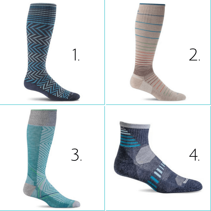best colorful compression socks for travel sockwell