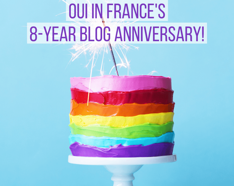 Oui In france's 8-year blog anniversary!