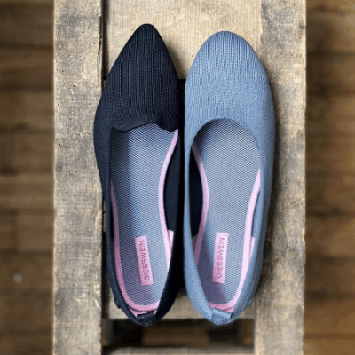 Rothy's alternative: Giesswein flats made from recycled water bottles