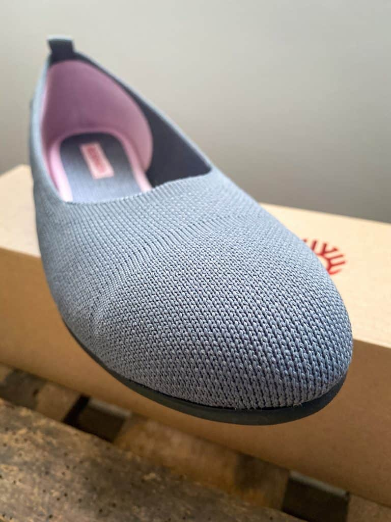 knit flat shoe from recycled plastic water bottles