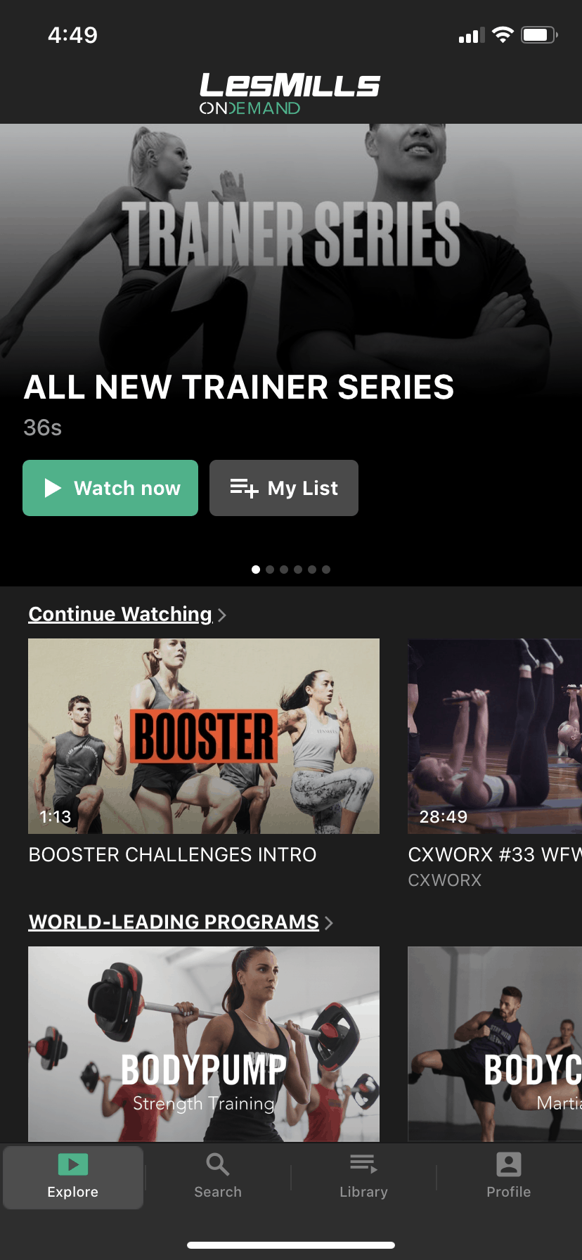 how much is les mills on demand app