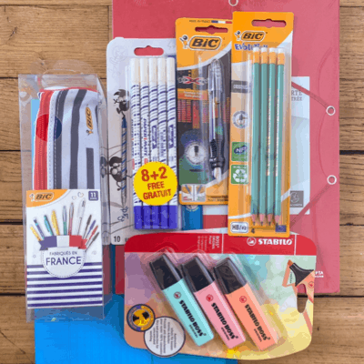 Souvenirs from France: A look at back-to-school supplies