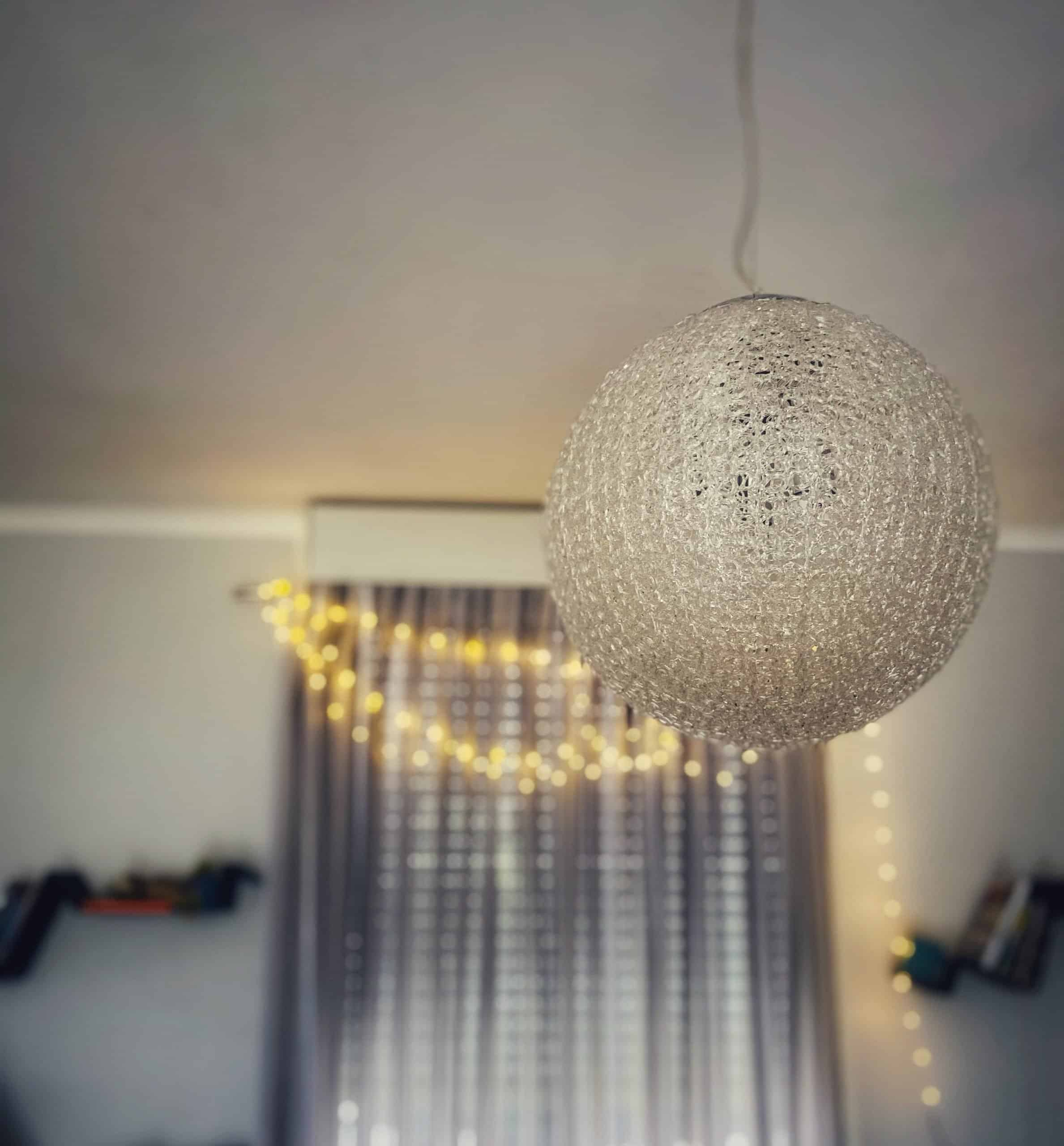 cozy space twinkle lights