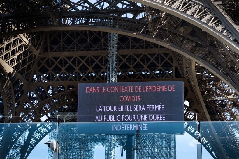 is eiffel tower closed
