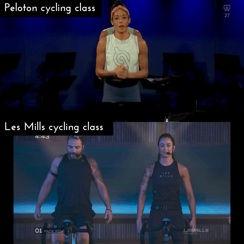 peloton digital versus les mills on demand cycling class