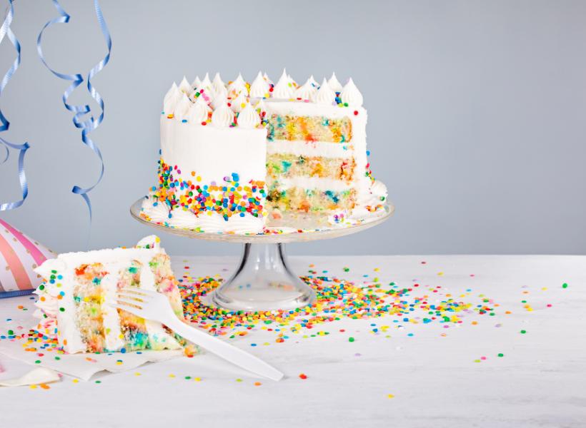 american birthday cake in france