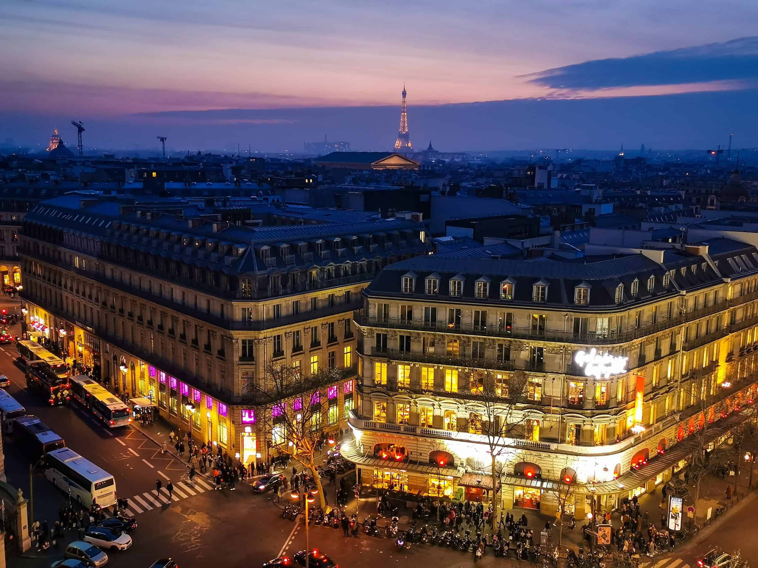 galeries lafayette rooftop best view in paris