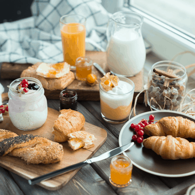 What do French people eat for breakfast?