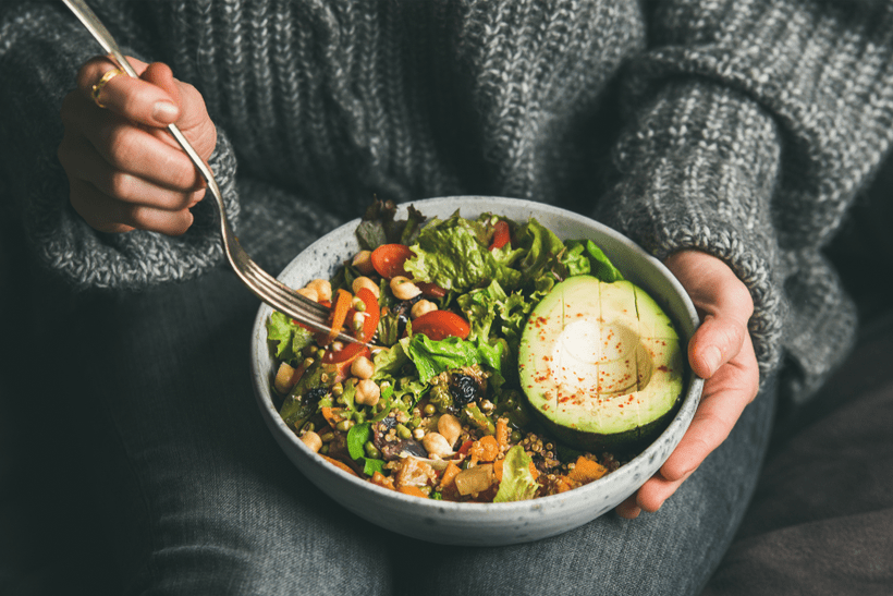vegetarian meal salad in french resetaurant