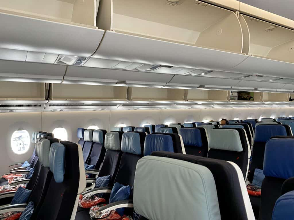 pandemic travel empty air france flight