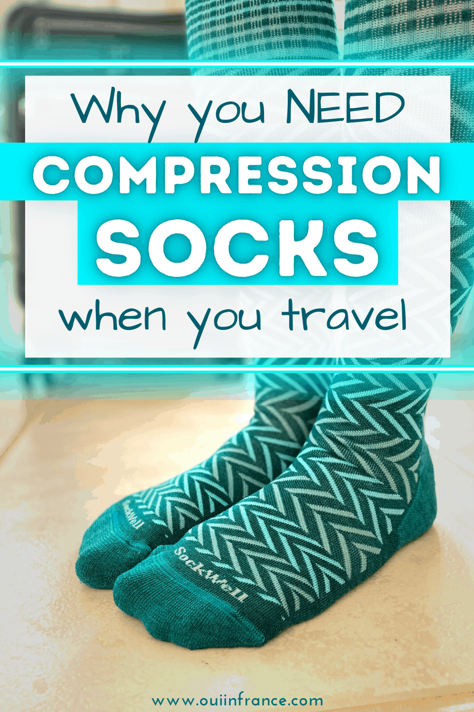 best compression socks for travel colorful