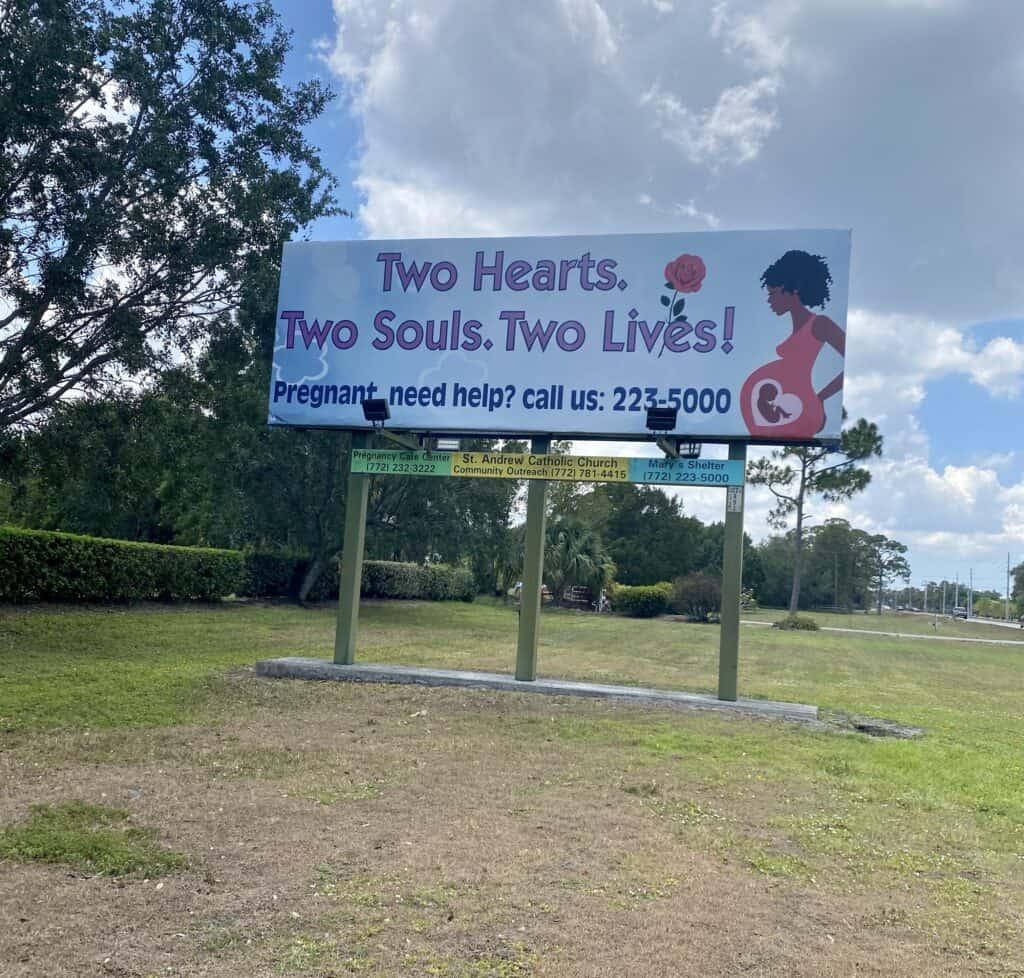 pro life billboard florida